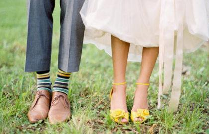 Chaussettes et chaussures assorties