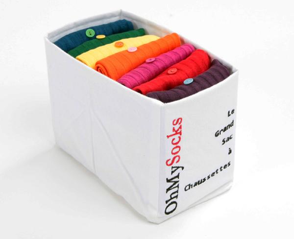 semainier chaussettes de couleurs
