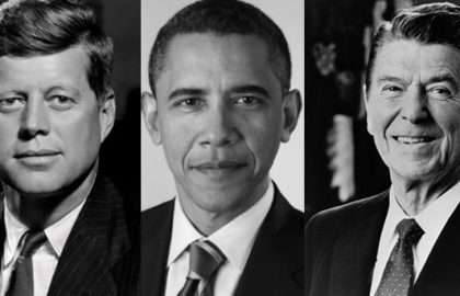 JF Kennedy-Obama-Regan