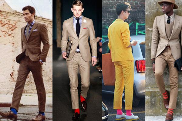 costumes et chaussettes de couleurs