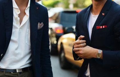 pochettes pour costume