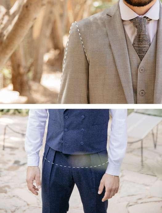 La taille de pantalon et les épaules de veste