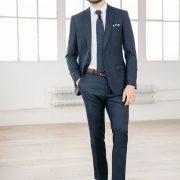 costume bleu pour homme