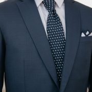 veste de costume bleue