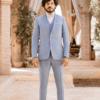 costume de mariage 3 pièces bleu clair sur mesure tailleur paris homme faubourg saint sulpice