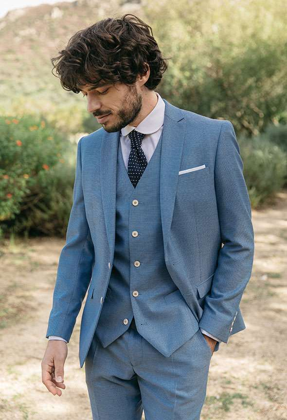 costume sur mesure bleu