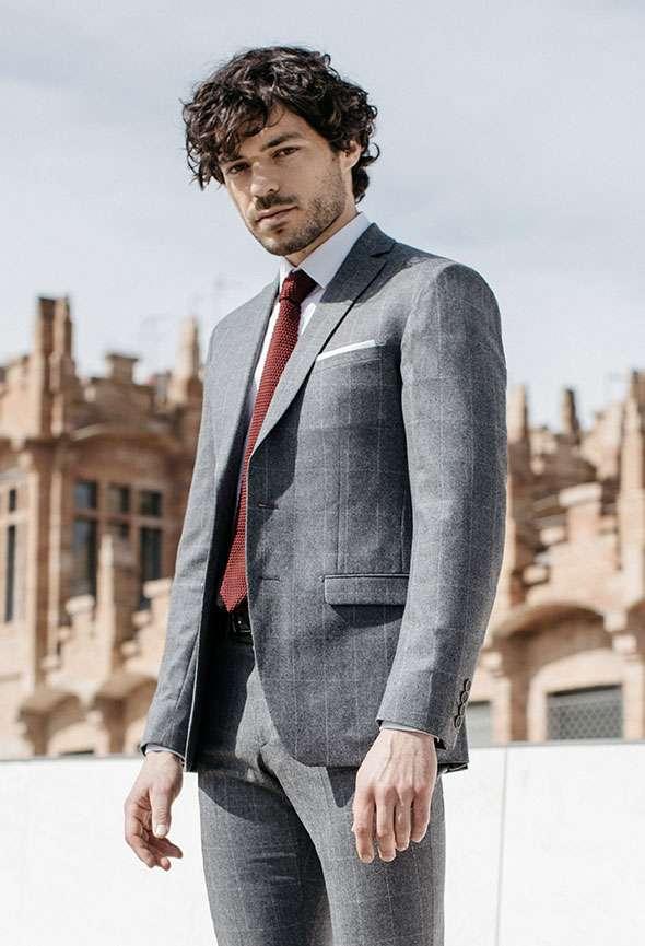 veste sur mesure grise faubourg saint sulpice tailleur paris homme