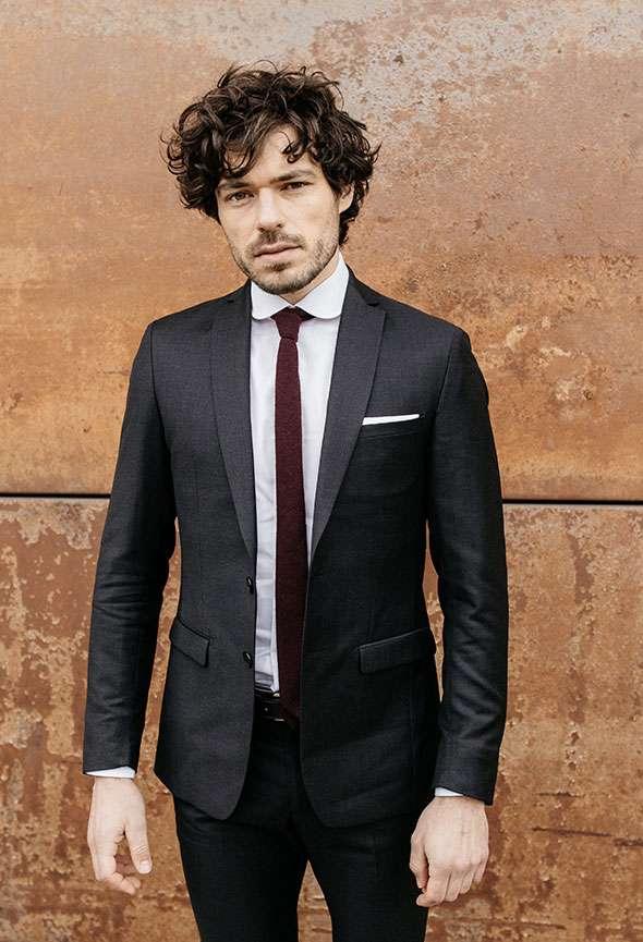 veste sur mesure gris anthracite faubourg saint sulpice tailleur homme paris
