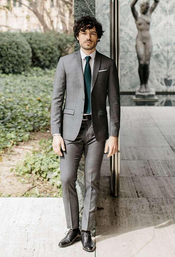 costume sur mesure prince de galles gris tailleur paris homme