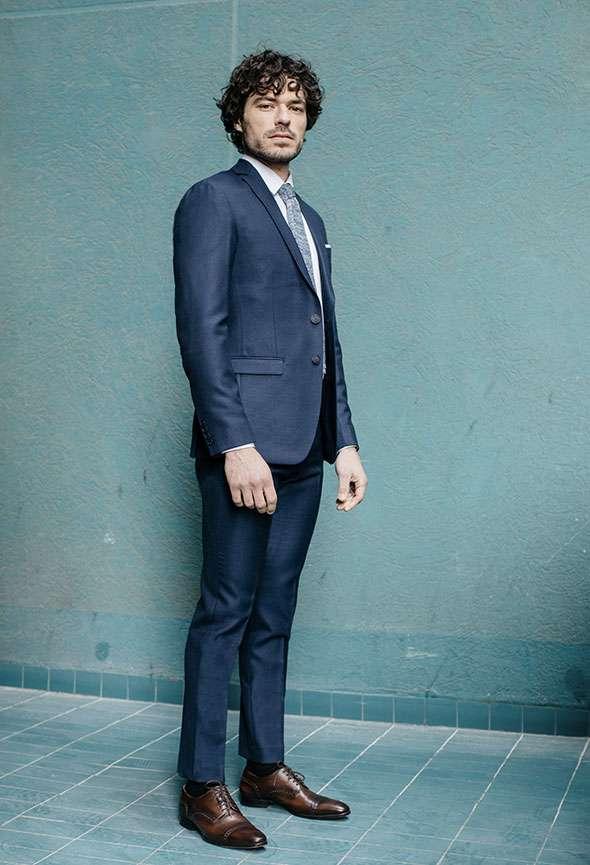 costume sur mesure bleu tailleur paris homme faubourg saint sulpice
