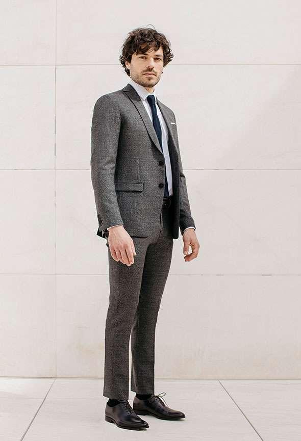 costume sur mesure gris faubourg saint sulpice tailleur homme paris