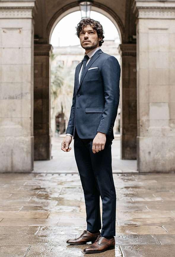 costume sur mesure bleu faubourg saint sulpice tailleur paris homme