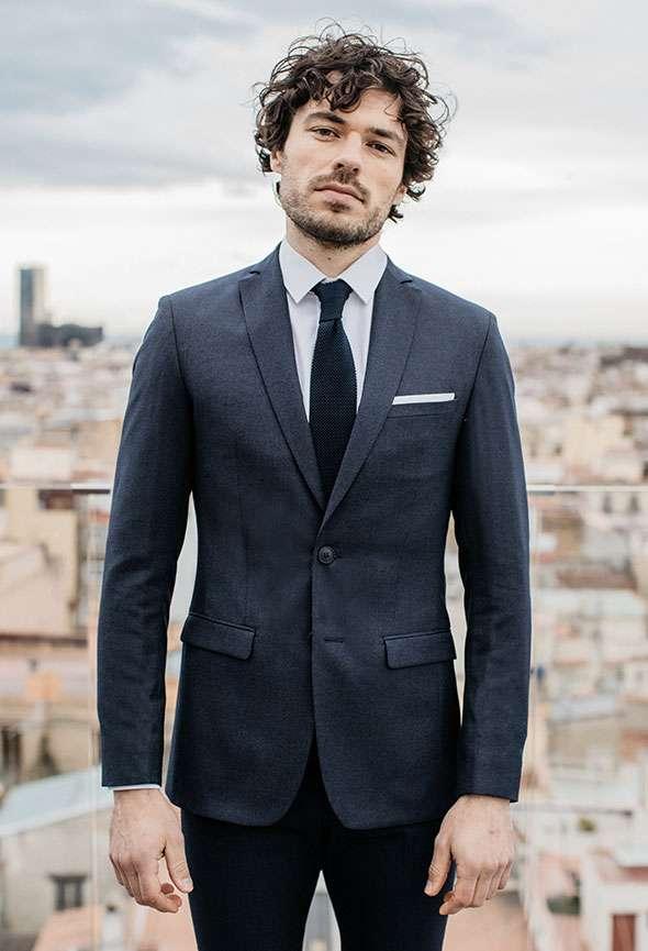 veste sur mesure bleu marine faubourg saint sulpice tailleur homme paris