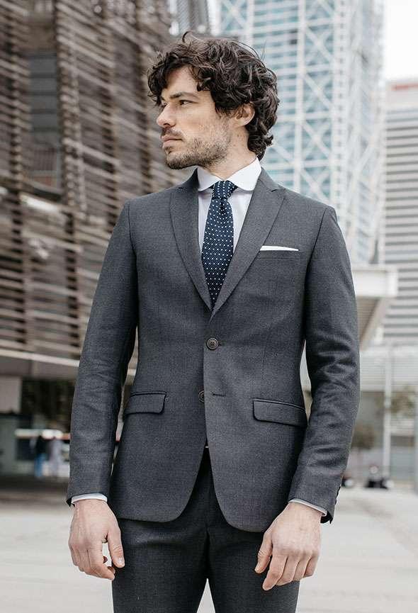 veste sur mesure gris anthracite tailleur homme paris faubourg saint sulpice