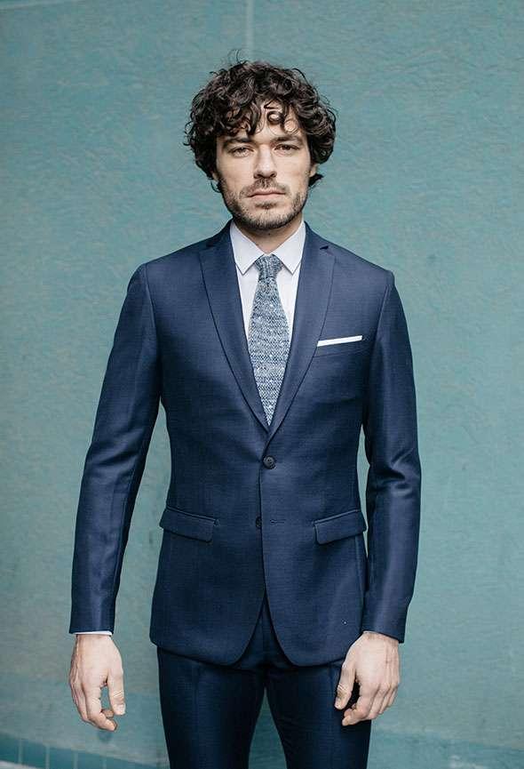 costume sur mesure bleu faubourg saint sulpice