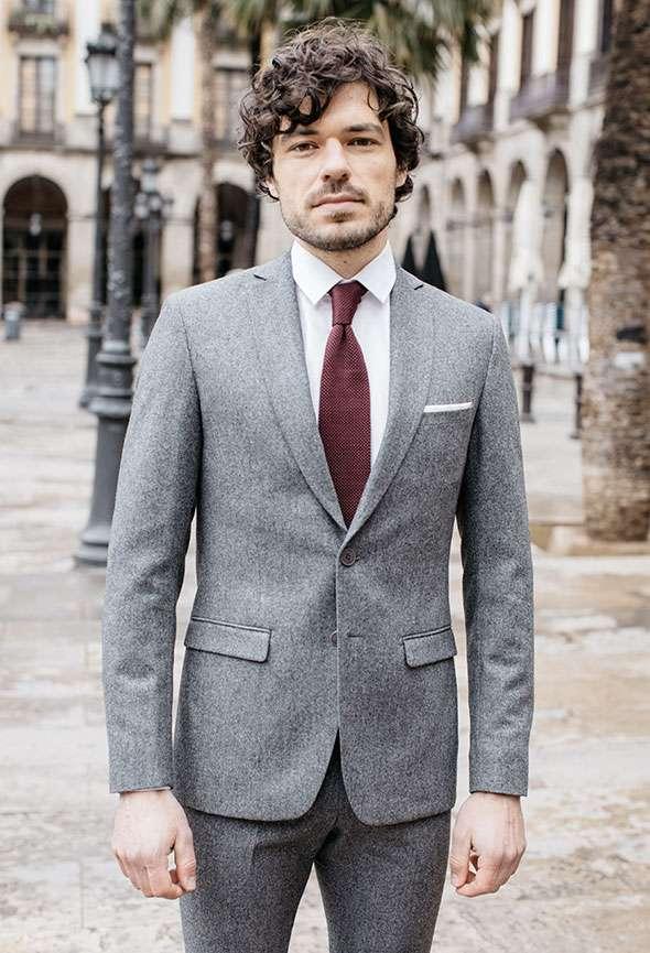 veste sur mesure faubourg saint sulpice flanelle gris tailleur paris homme