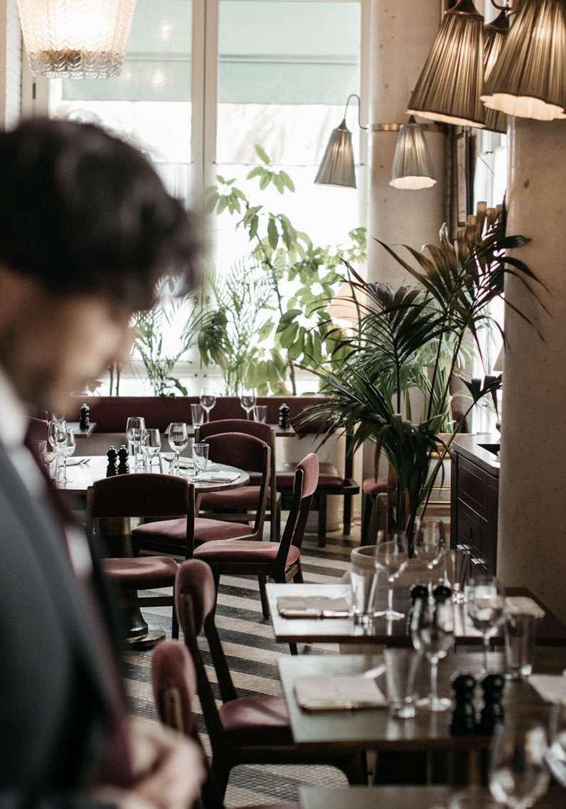 plante verte intérieur café barcelone déco intérieure