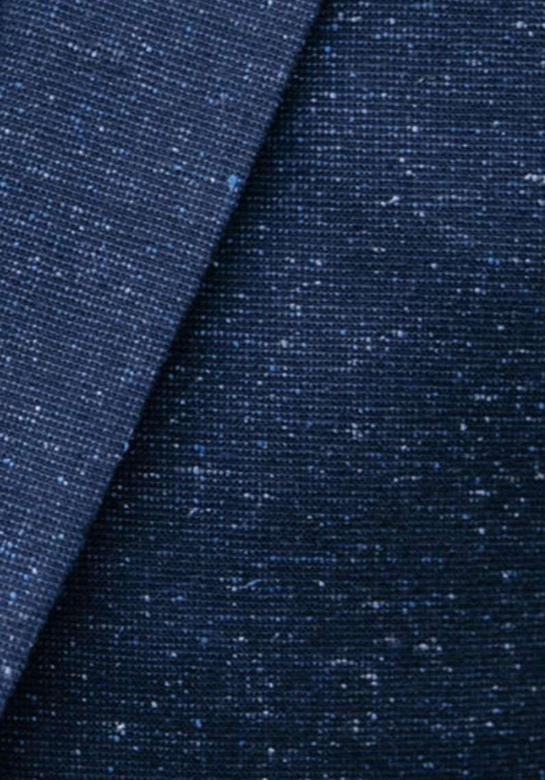 tissu moucheté bleu