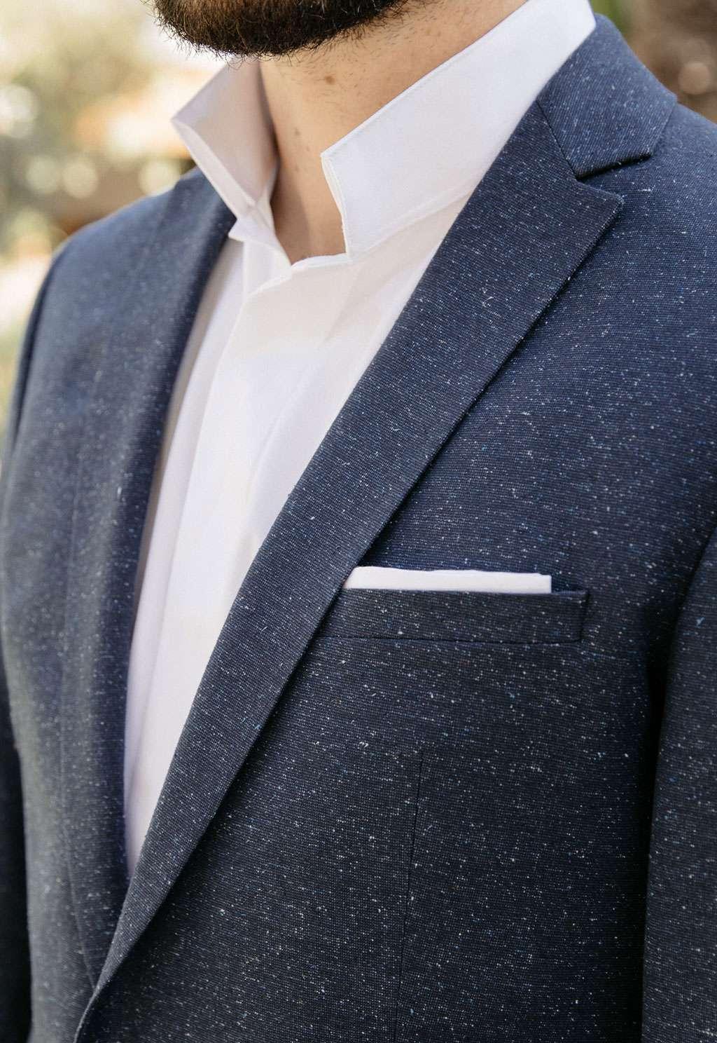 chemise de mariage sur mesure faubourg saint sulpice tailleur homme paris col inversé