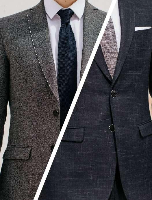 Revers de veste et boutons de costume tailleur paris sur mesure