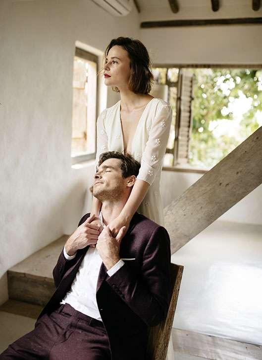 costume 2 pièces mariage Chloé Faubourg Saint Sulpice sur mesure paris tailleur étoffe homme