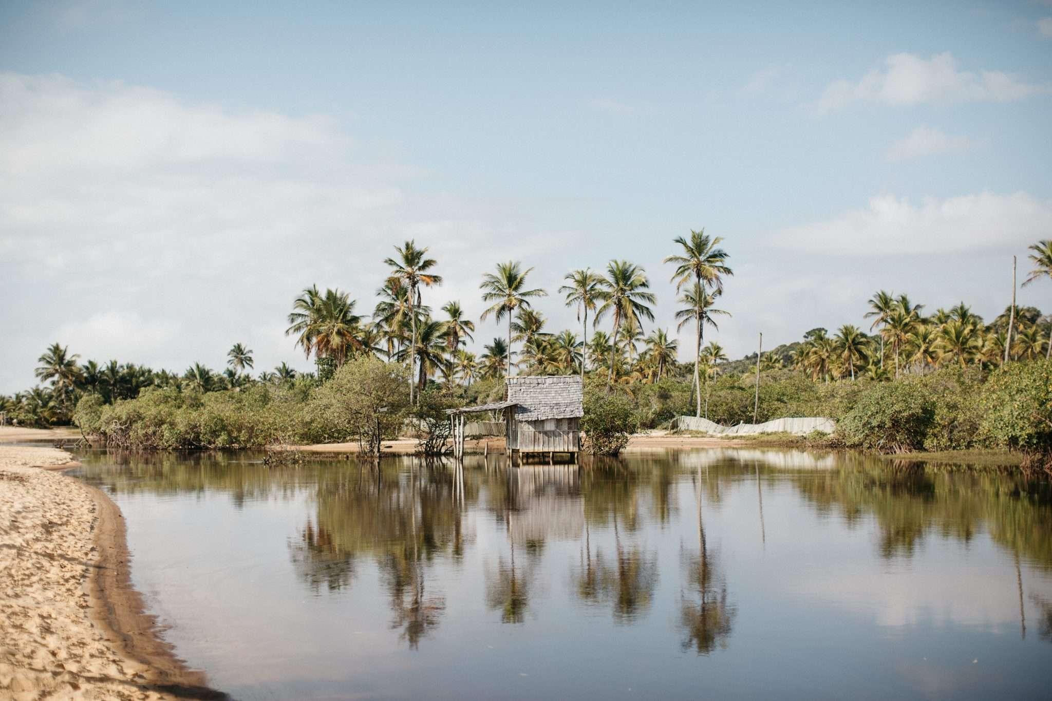 Brazil Brésil Bahia voyage soleil perdu seul au monde cabane ciel bleu palmiers