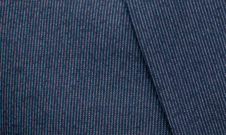 faubourg saint sulpice costume bleu à rayures fines