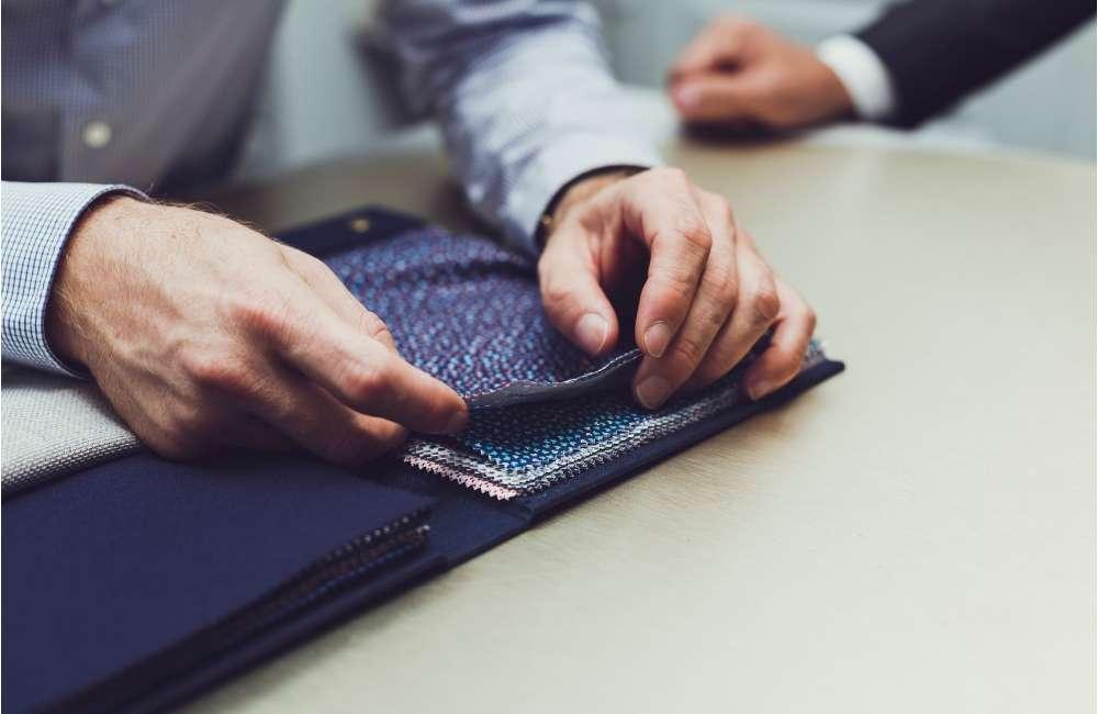 Tissue laine costume sur mesure