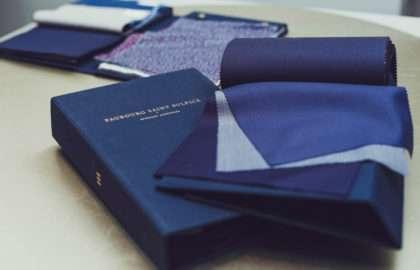 liasses bleues boutique Paris Faubourg Saint Sulpice costume sur mesure