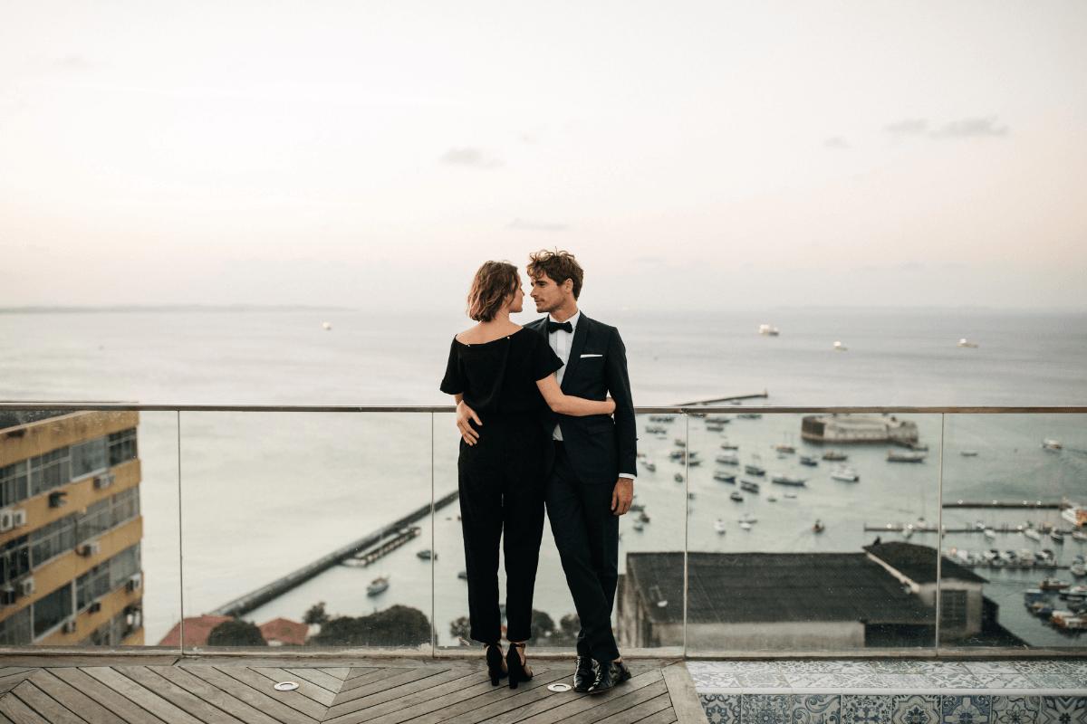 couple de marié smoking de mariage